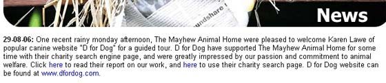 The Mayhew Animal Home August 2006
