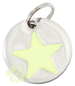 Dog ID Tag by K9 - Glow In The Dark Star