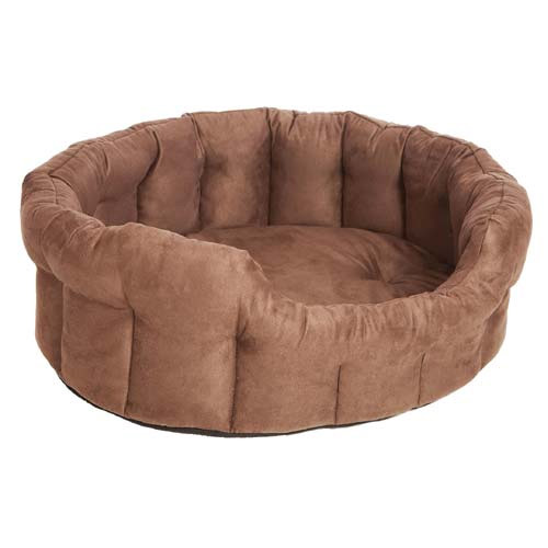 P Amp L Softee Oval High Sided Memory Foam Dog Bed Uk
