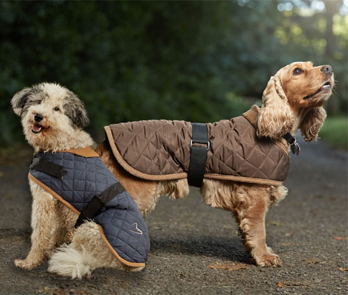 Quilted Dog Coat Water Resistant Fleece Lined