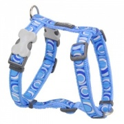 Red Dingo Dog Harness Circadelic Blue