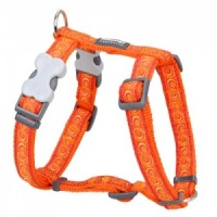 Red Dingo Dog Harness Cosmos Orange