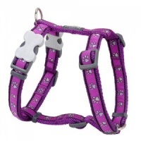 Red Dingo Dog Harness Paw Prints Purple