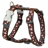 Red Dingo Dog Harness Pink Spots On Brown