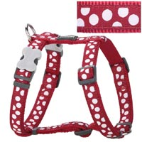 Red Dingo Dog Harness White Spots On Red
