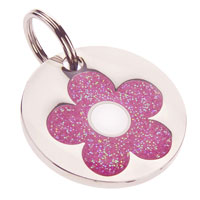 Dog ID Tag by K9 - Glitter Daisy