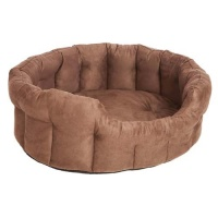 Oval Softee Dog Bed With Memory Foam Base