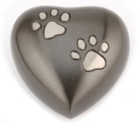 Pet Keepsake Urn Chertsey Black Pewter Heart