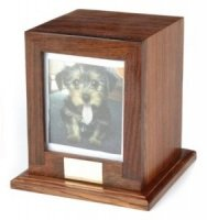 Wooden Pet Urn Bootle