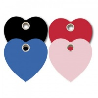 Plastic Dog Tag - Heart - Large