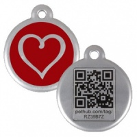 QR Pet Tag - Red Heart
