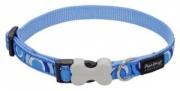 Red Dingo Dog Collar Circadelic Blue