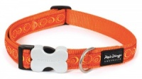 Red Dingo Dog Collar Cosmos Orange