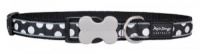 Red Dingo Dog Collar White Spots on Black