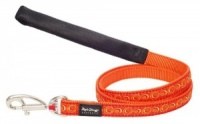 Red Dingo Dog Lead Cosmos Orange