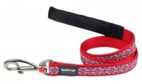 Red Dingo Dog Lead Union Jack
