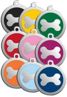 Dog ID Tag by Red Dingo - Bone - Medium