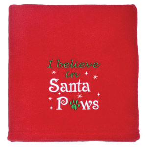 I Believe in Santa Paws Pet Blanket