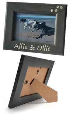 personalised dog photo frames