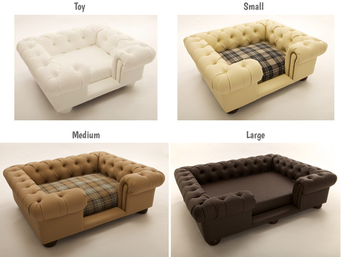 Balmoral luxury dog sofa sizes