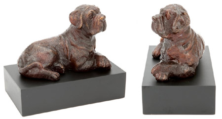 Bronze Dog Sculpture Urns