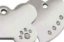 Diamante Dog Tags