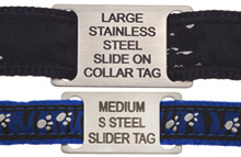 Slide-on Dog Tags