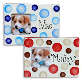 ceramic personalised dog photo frame