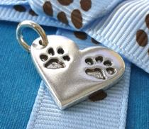 double paw print charm