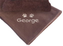 dog blanket and towel gift set
