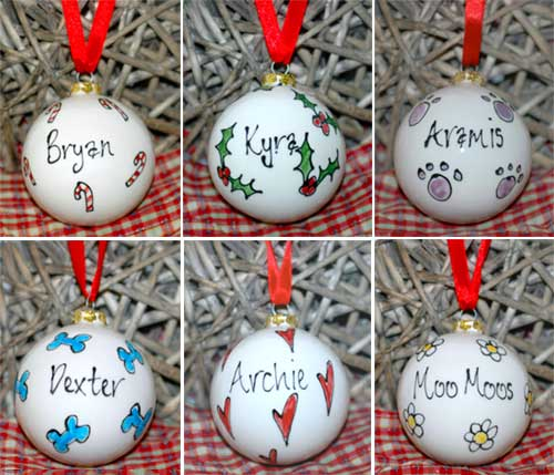 Personalised Dog Christmas Tree Ornament | Bauble