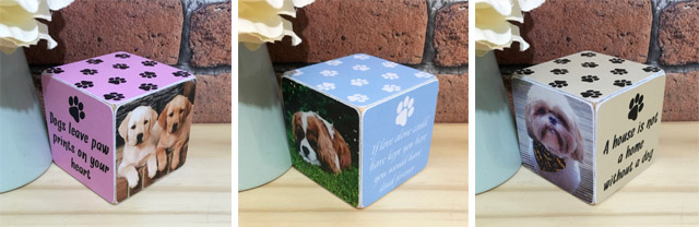 Personalised dog photo cube