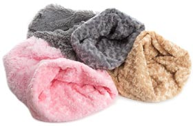 Luxury shaggy dog pooch pods snuggle sacks