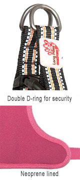 double d-ring secure dog harness