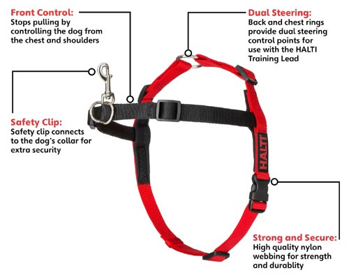 Halti Training 'stop puling' dog harness - features