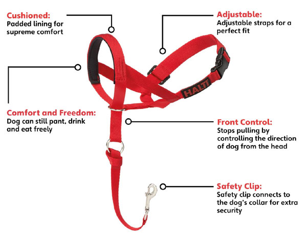 Halti Training 'stop puling' dog headcollar - features