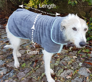 Henry Wag microfibre dog drying coat
