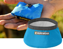 Ruffwear dog collars, leads, harnesses and travel bowls