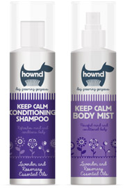Hownd calming dog shampoo and grooming spray