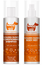 Hownd senior old dog grooming spray and shampoo
