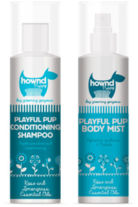 Hownd puppy grooming spray and shampoo