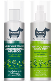 Hownd smelly dog shampoo and grooming spray