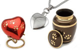 Pet urns and ashes keepsakes