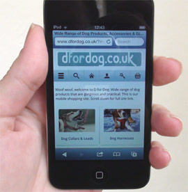 D for Dog mobile site