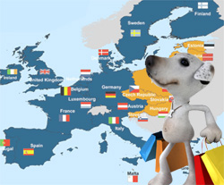 Europe delivery at D for Dog