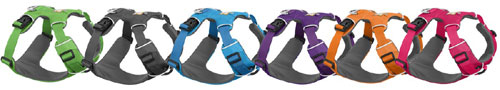 Front Range dog harness colours