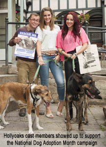 Hollyoaks and National Dog Adoption Month
