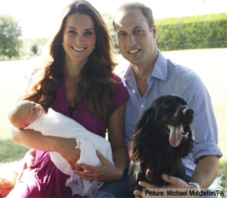 First Photo of Prince George & Lupo The Dog