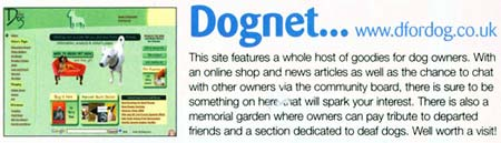 Your Dog magazine January 2006