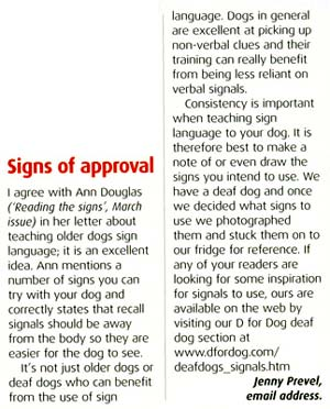 Dog Magazine Letters Page